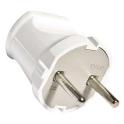 Вилка SQ1806-0001 TDM  6A 250B (АБС-пластик,белая)