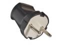 Вилка SQ1806-0002 TDM  6A 250B (АБС-пластик,черная)