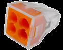 Экспресс-клемма 4*2.5 мм2 электромонтажная  REXANT(проводник Cu)