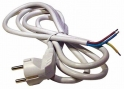 Сетевой кабель  Volsten S-LR2,Черный (сетевой кабель с угловой е