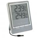 Термометр  цифровой TM1026 - серебро   Измерение наружной и внут