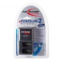 Зарядное устройство ANSMANN POWERLINE 2 ; для 1-2шт 6F22 (70mA);